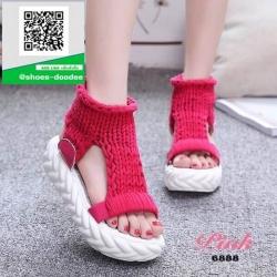 รองเท้าแตะหุ้มข้อสีชมพู ใส่หน้าหนาว (สีชมพู )