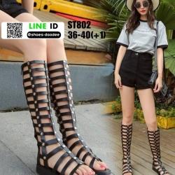 รองเท้าสไตล์แกดิเอเตอร์ ST802-BLK [สีดำ]