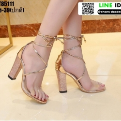 รองเท้าส้นแท่งหุ้มท้าย ST85111-GLD [สีทอง]