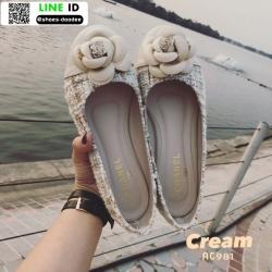 รองเท้าคัชชู สไตล์แบรนด์ CHANEL AC981-CRE [สีครีม]