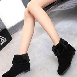 รองเท้าบูท ใส่เดินหิมะ ฤดูหนาว (สีดำ )