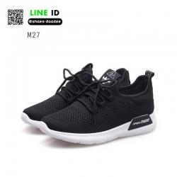 รองเท้าผ้าใบผ้าตาข่ายมีรูระบายอากาศ M27-BLK [สีดำ]