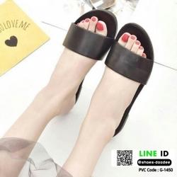 รองเท้าแตะแฟชั่นแบบคาด สวม สีพาสเทล G-1450-BLK [สีดำ]