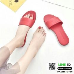 รองเท้าแตะแฟชั่นแบบคาด สวม สีพาสเทล G-1450-RED [สีแดง]
