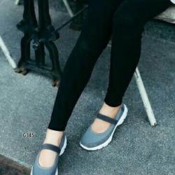 รองเท้าผ้าใบยางยืดสีเทา Style Sketcher การันตีว่านุ่มมาก (สีเทา )