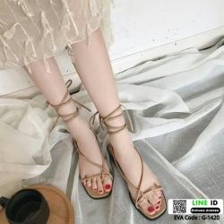รองเท้าแตะ พันข้อเท้า G-1420-ฺBEG [สีเบจ]
