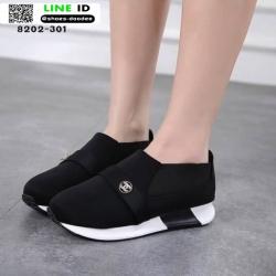 รองเท้าผ้าใบไร้เชือก chanel sneaker 8202-301-BLK [สีดำ]