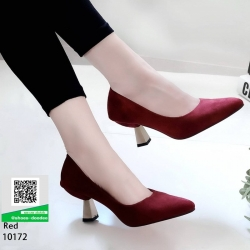 รองเท้าส้นสูงปราด้า 10172-แดง [สีแดง]