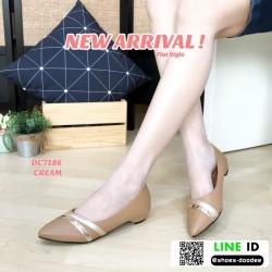 รองเท้าคัชชูงานหนังพียู DC7186-CREAM [สีครีม]