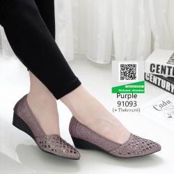 รองเท้าคัชชูหน้าเรียว 91093-ม่วง [สีม่วง]