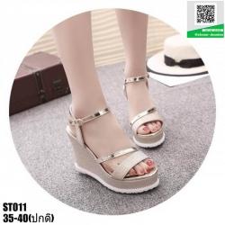 รองเท้ารัดข้อเปิดท้ายส้นเตารีด ST011-GLD [สีทอง]
