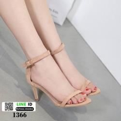รองเท้าส้นสูง สไตล์เกาหลี ทรงเกร๋ 18-1366-PINK [สีชมพู]