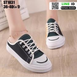 รองเท้าผ้าใบเปิดท้าย ST1831-BLK [สีดำ]