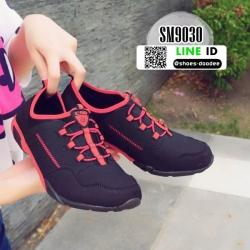 รองเท้าผ้าใบผู้หญิง SM9030-BLK [สีดำ]