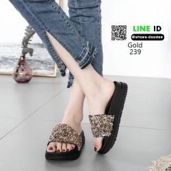 รองเท้าแตะเตารีดพื้น pu งานสวย 239-ทอง [สีทอง]