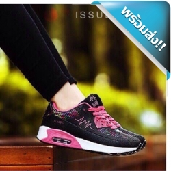 รองเท้าผ้าใบผู้หญิงสีดำ แต่งเติมสไตล์ลำลองของคุณให้ดูสมบูรณ์แบบด้วย รองเท้าผ้าใบเสริมประมาณ3ซม