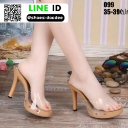 รองเท้าส้นสูงแบบสวม 099-WHI [สีขาว]