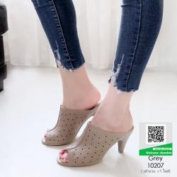 รองเท้าส้นสูง ปราด้า 10207-เทา [สีเทา]