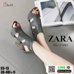 รองเท้าส้นสูงหุ้มส้น C3-13-GRA [สีเทา]