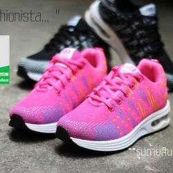 รองเท้าผ้าใบแฟชั่นสีชมพู NEW SPORT SNEAKERS (สีชมพู )