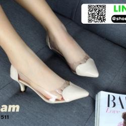 รองเท้าคัทชูหนังแก้ว B13-511-CRE [สีครีม]