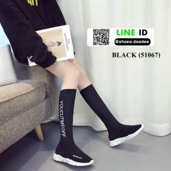 รองเท้าบูทนำเข้า สไตล์เกาหลี 51067-BLACK [สีดำ]