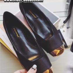 รองเท้าคัทชูสีดำ คัทชูส้นเตี้ย งานนำเข้า แบบสวยเหมือนในรูป วัสดุผ้าซาตินอย่างดี ดูมีราคา