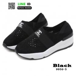 รองเท้าผ้าใบแฟชั่น chanel sneaker 9950-5-BLK [สีดำ]