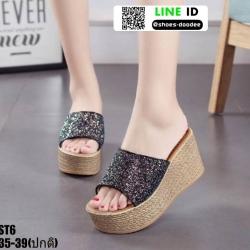 รองเท้าสวมส้นเตารีด ST6-BLK [สีดำ]