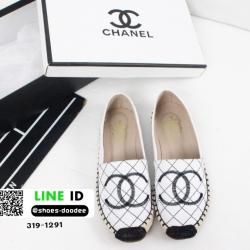 รองเท้าคัทชูส้นแบน chanel flats 319-1291-WHI [สีขาว]