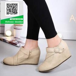 รองเท้าบูทสั้นสีครีม กันหนาว สไตล์เกาหลี (สีครีม )