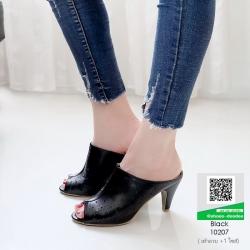 รองเท้าส้นสูง ปราด้า 10207-ดำ [สีดำ]