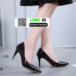 รองเท้าคัชชูงานหนังแก้ว 18-1426-BLK [สีดำ]