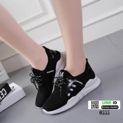 รองเท้าผ้าใบนำเข้าสไตล์แบรนด์ดัง 0555-ดำ [สีดำ]