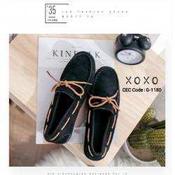 รองเท้าคัทชูส้นแบน TOD'S เชือกผูกโบ G-1180-BLK [สีดำ]