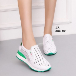 รองเท้าผ้าใบงานหนัง pu-Green 818 [สีเขียว]