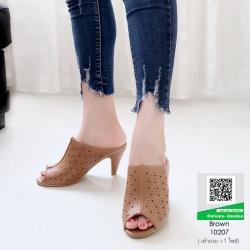 รองเท้าส้นสูง ปราด้า 10207-น้ำตาล [สีน้ำตาล ]