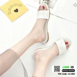 รองเท้าแตะแฟชั่นแบบคาด สวม สีพาสเทล G-1450-WHI [สีขาว]