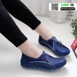 รองเท้าผ้าใบเกาหลี soft&comfort 8262-น้ำเงิน [สีน้ำเงิน]