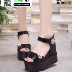 รองเท้าทรงเตารีดแบบรัดข้อ ST9-BLK [สีดำ]