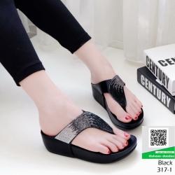 รองเท้าสุขภาพเสริมบุคลิกภาพ 317-1-ดำ [สีดำ]