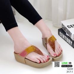 รองเท้าสุขภาพเสริมบุคลิกภาพ 317-1-ทอง [สีทอง]