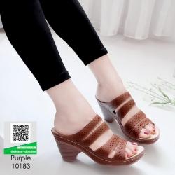 รองเท้าสุขภาพ พื้นนุ่ม 10183-ม่วง [สีม่วง]