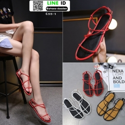 รองเท้าแตะผู้หญิงรัดส้น Celine sandals C55-1-RED [สีแดง]