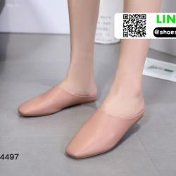 รองเท้าสไตล์สวมงานหนังพียูเนื้อนิ่มจ้า 18-4497-PNK [สีชมพู]