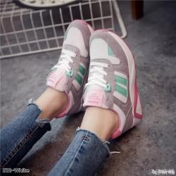 รองเท้าผ้าใบแฟชั่นสีขาว ทรงสปอร์ต (สีขาว )