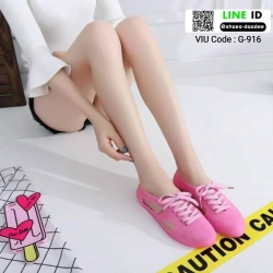 รองเท้าคัชชูยางส้นเตี้ย แบบ ALDO G-916-PNK [สีชมพู ]