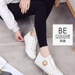 รองเท้าผ้าใบ Sneaker Converse Style (สีทอง )