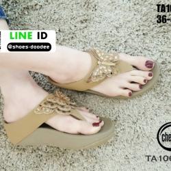 รองเท้าแตะรองเท้าสุขภาพแบบหูคีบ TA106-GLD [สีทอง]