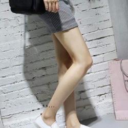 รองเท้าผ้าใบแฟชั่น แบบสวม ทรงนินจา (สีขาว )